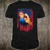 Rosie The Riveter Painted American Flag Shirt