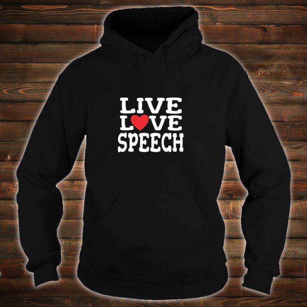 SLP Early Intervention Therapist Valentine's Day Hearts Love Shirt hoodie