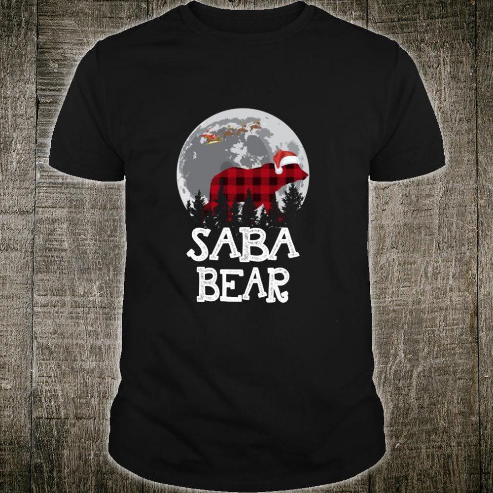 Saba Bear Christmas Pajama Red Plaid Buffalo Family Shirt