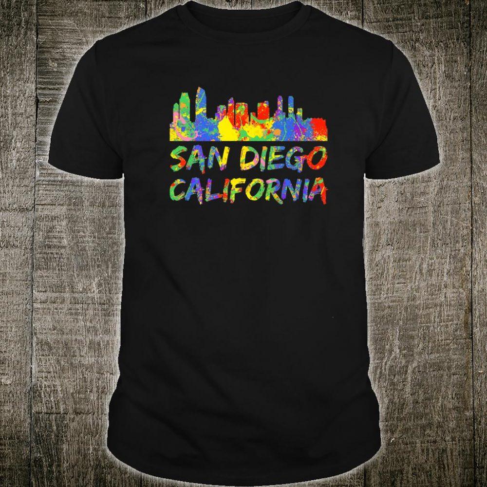 San Diego Rainbow Skyline Silhouette San Diego California Shirt