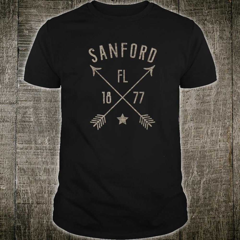 Sanford Florida Distressed Boho Style Home City Shirt