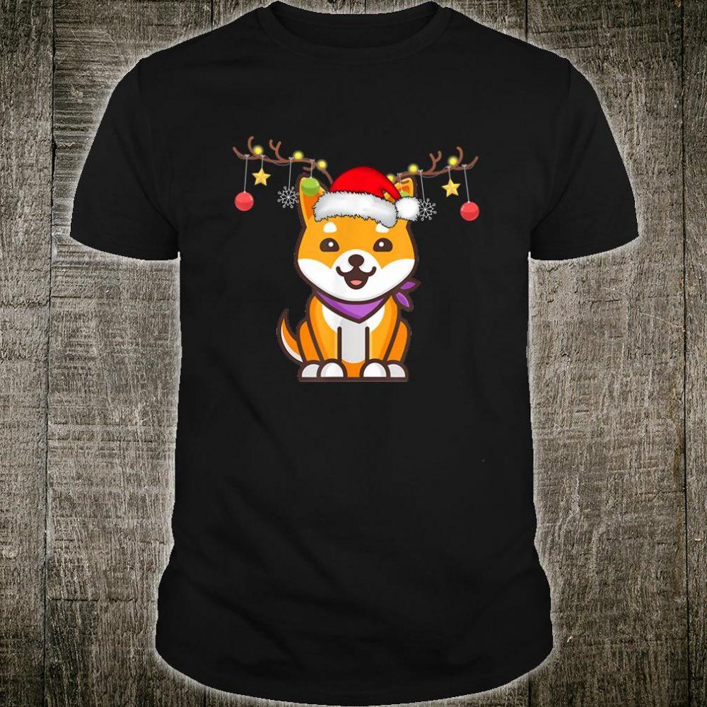 Shiba Inu Christmas Reindeer Christmas Shirt