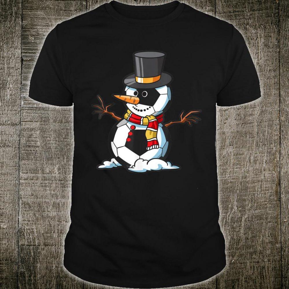 Soccer Balls Snowman Christmas Shirt