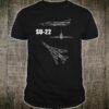 Su-22 Flugzeug Blaupause Shirt