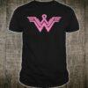 Superhero Pink Ribbon Breast Cancer Awareness Mom Wife Shirt
