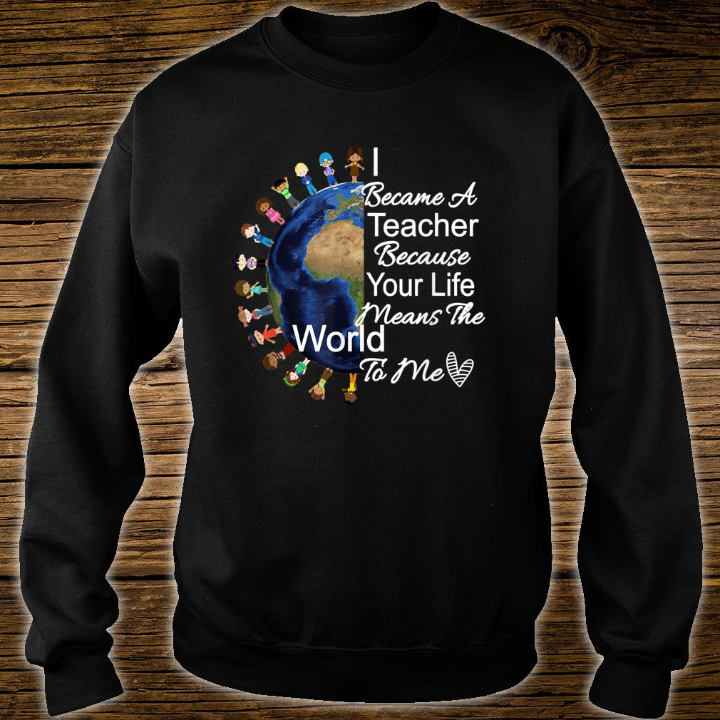 Teacher's Appreciation Shirt I Became A Teacher Because Shirt sweater