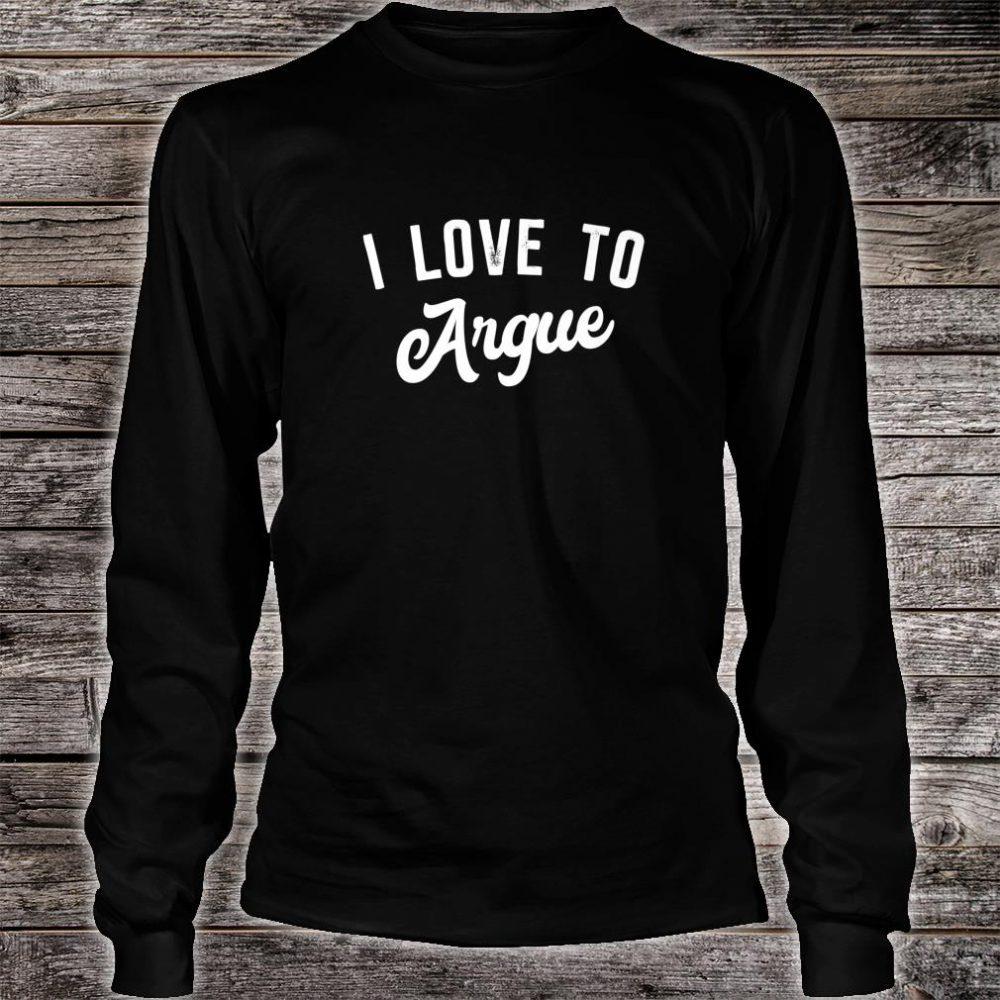Teenager xmas i love to argue Shirt long sleeved