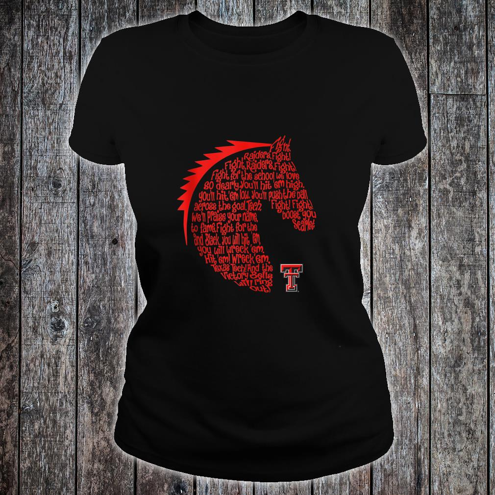 Texas Tech Red Raiders Fight Song Gameday Fan Tailgating Shirt ladies tee