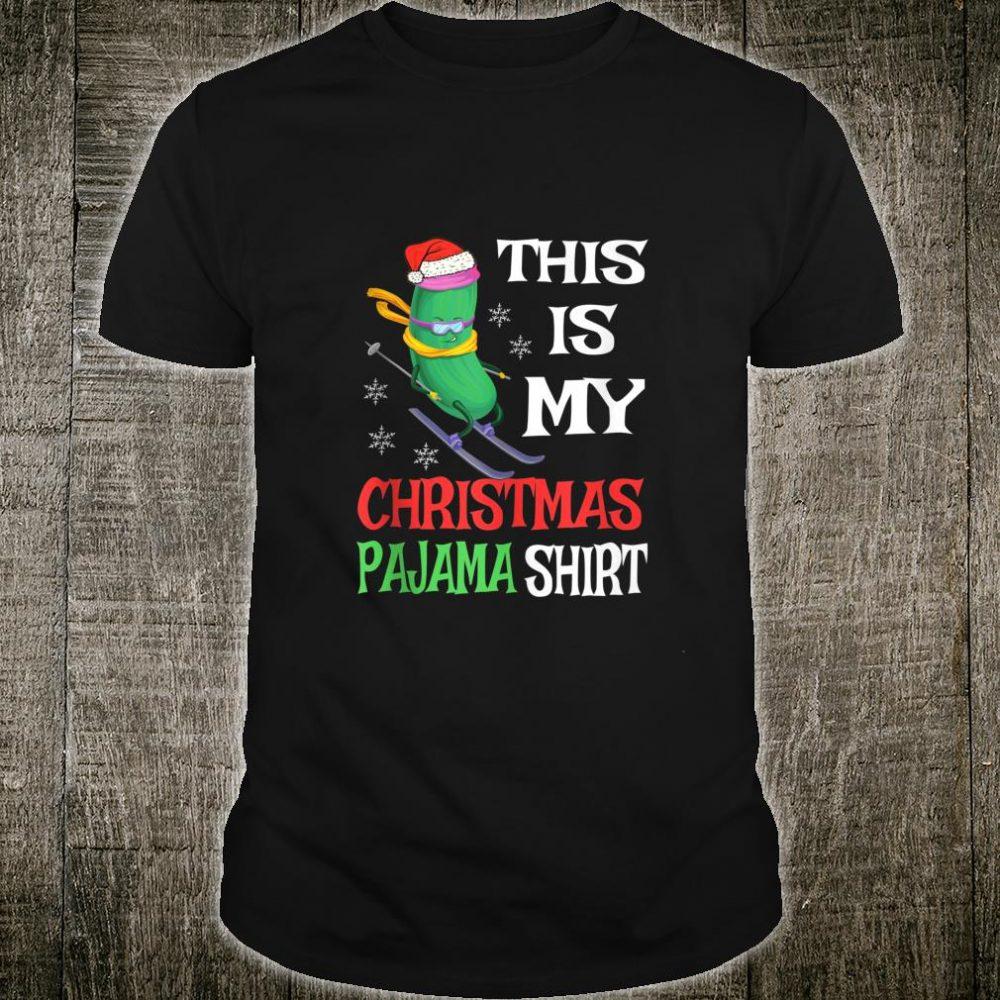 This Is My Christmas Pajama Cucumber Skiing Shirt