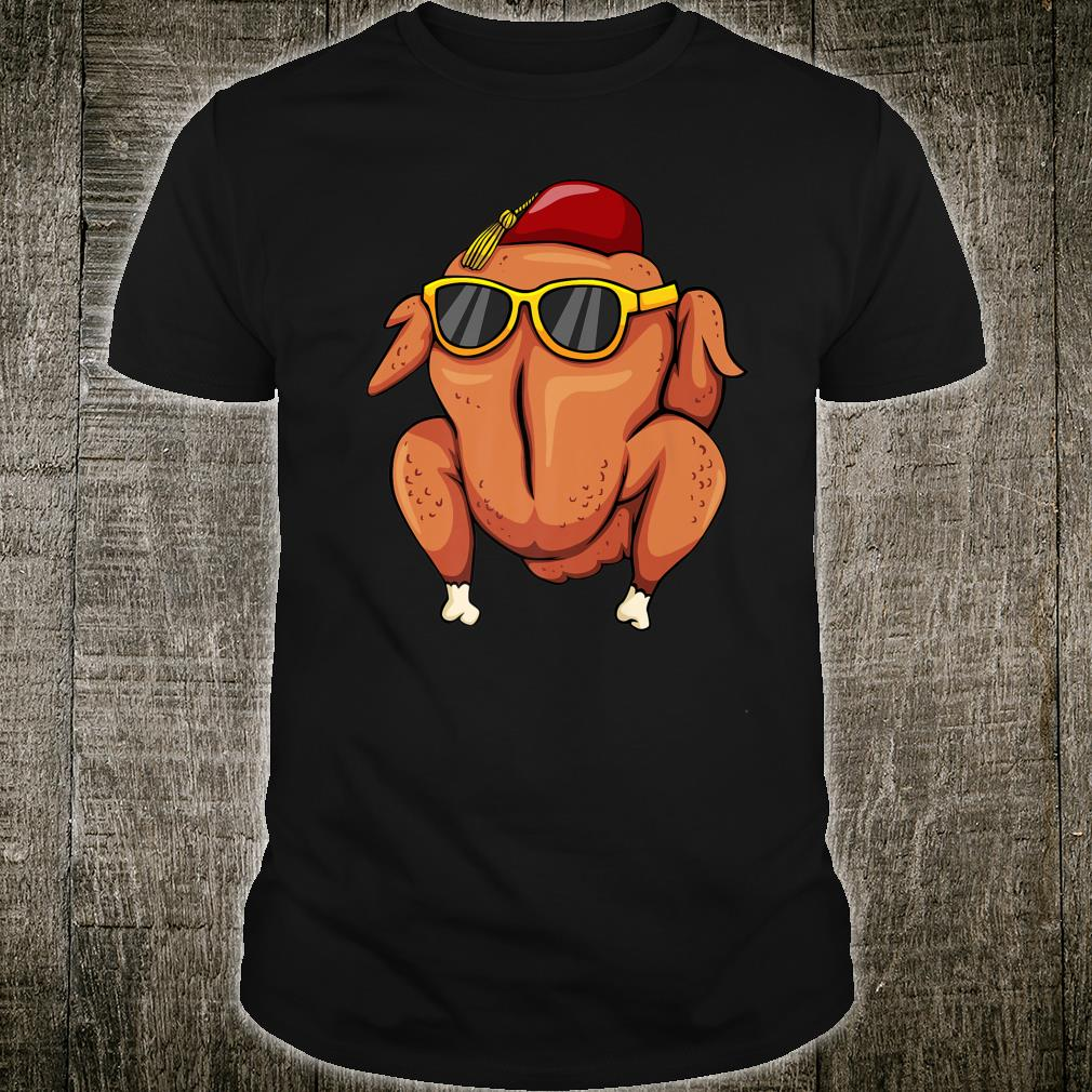 Turkey Head with Sun Glasses and Turkish Hat Shirt