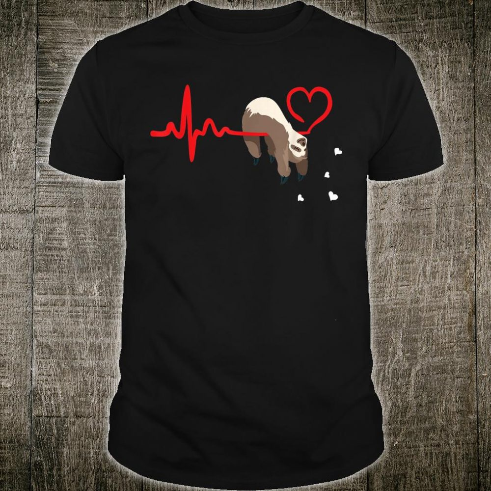 Valentine's Day Sloths Matching Couples Shirt