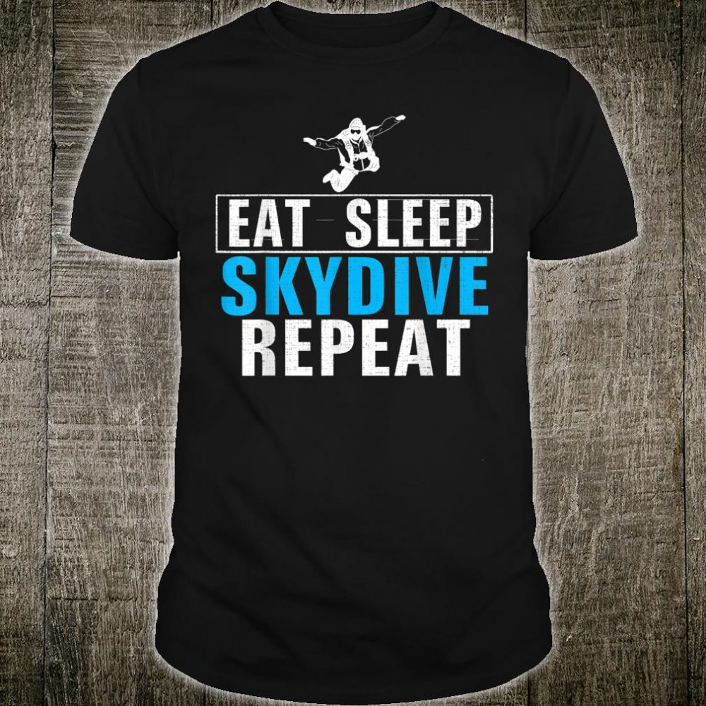 Vintage Eat Sleep Skydiver Repeat Skydiving Love Shirt